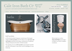 Screenshot of Cast Iron Bath website