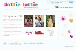 Screenshot of Dottie Lottie website