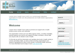 Screenshot of LAHF website
