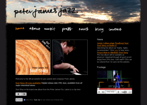 Screenshot of Peter James Trio website
