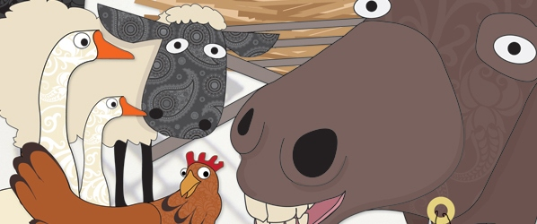Screenshot of &#039;Away In A Manger&#039; cover illustration