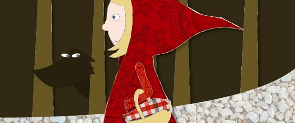 Screenshot of &#039;Little Red Riding Hood&#039; illustration