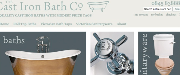 Screenshot of Cast Irona Bath website