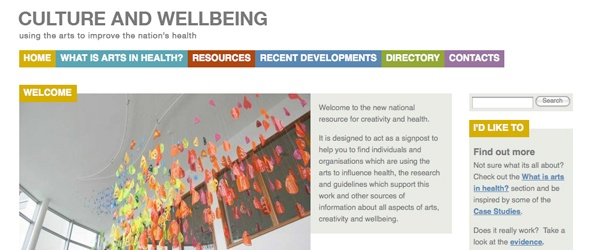 Screenshot of Culture &amp; Wellbeing website